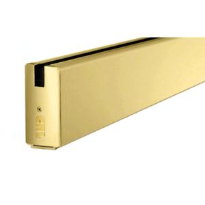 """CRL SR4SSB3812CL Satin Brass 4"""" Custom Length Square Sidelite Rail for 3/8"""" and 1/2"""" Glass"""