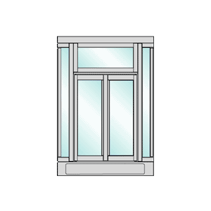 CRL BFW2C Custom Color and Size Manual Projected Bi-Fold Service Window