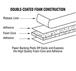 "CRL CRL421612 Black 1/16"" x 1/2"" All-Purpose Foam Mounting Tape"