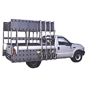 "CRL BR706 White 72"" x 86"" Steel Glass Rack for 1/2 Ton Pickup Trucks"