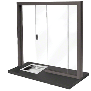 CRL SBRWDU1 Dark Bronze Bullet Resistant Level 1 Manual Sliding Service Window
