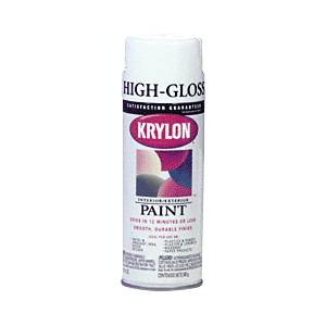 KRYLON KP1501 Glossy White Spray Paint