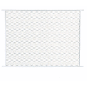 """CRL PG40W White 48"""" Sliding Screen Door Grille"""