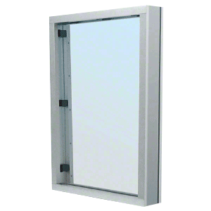 CRL S1V1S Brushed Stainless Steel Frame Interior Glazed Vision Window