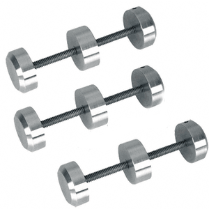 Brushed Stainless Surround Sound Spacer Studs for Bullet Resistant Protective Barrier Systems