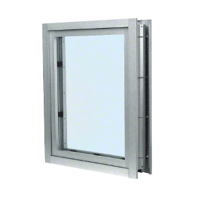 CRL C0V1A Satin Anodized Aluminum Clamp-On Frame Interior Glazed Vision Window