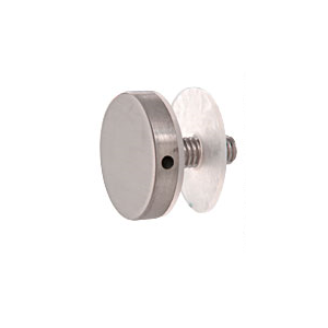 "CRL CAP112BS 316 Brushed Stainless 1-1/2"" Diameter Standoff Round Cap Assembly"