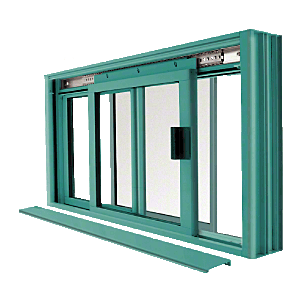 CRL DW2000K Custom Color Custom KYNAR Paint DW Series Manual Deluxe Sliding Service Window OX or XO with Screen