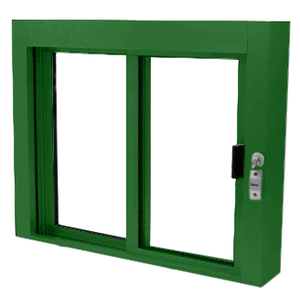 CRL SBRWEXK1 KYNAR Painted Bullet Resistant Level 1 Exterior Manual Sliding Service Window