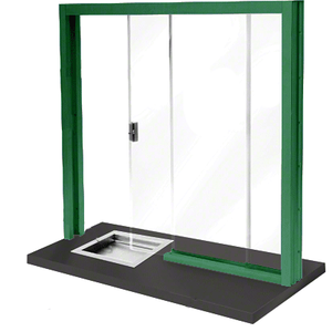 CRL SBRWK3 Painted Bullet Resistant Level 3 Manual Sliding Service Window