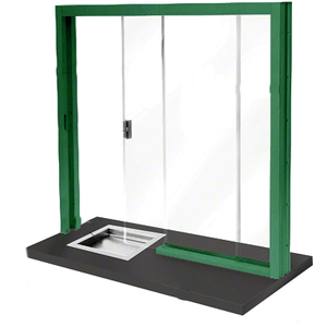 CRL SBRWK1 Painted Bullet Resistant Level 1 Manual Sliding Service Window