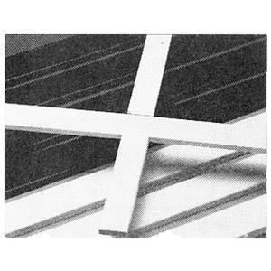 "CRL 3455804 White 3/16"" x 3/4"" Muntin Bar 152"" Stock Length"