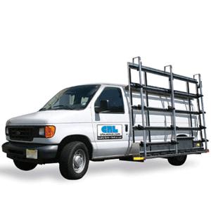 CRL GRAL1000WS Aluminum Van Glass Rack With Wheel Skirt