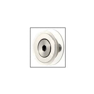 """Brushed Stainless Flush Mount Cap Assembly for 1-1/2"""" Diameter Standoffs"""