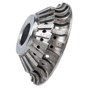 CRL 43PB123333 ADI 'Tilt Wheel' for 90 Built Up Edges 120 mm Diameter - Position 1