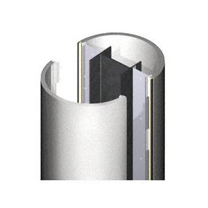 CRL ECR40CSA Custom Satin Anodized Standard Series Round Column Covers Four Panels Opposing