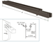 """CRL 3NFH40RBCD Oil Rubbed Bronze Double Narrow Floating Header with Surface Mounted Top Pivots for 3/4"""" Glass - Custom Length"""