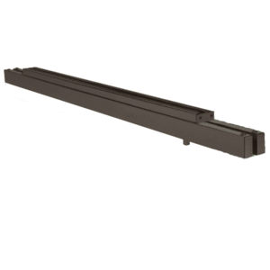 """Oil Rubbed Bronze Double Narrow Floating Header with Surface Mounted Top Pivots for 3/4"""" Glass - Custom Length"""