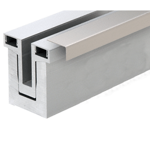 CRL Blumcraft RG50CBS10 Brushed Stainless Cladding for RG500 Base Shoe