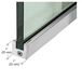 """CRL SP25BS12C Brushed Stainless 1"""" Tall Slender Profile Door Rail Without Lock - Custom"""