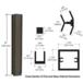 "CRL D990DU3045C Duranodic Bronze 30"" 45 Degree Center Design Series Partition Post"