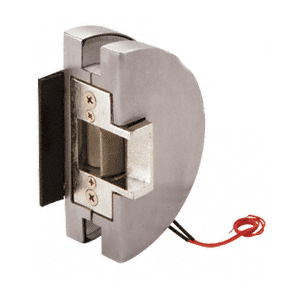 Fail Safe Lever Lock Glass Keepers with Electric Strike - Brushed Stainless Steel
