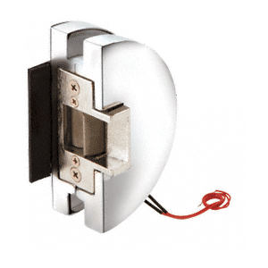 Fail Safe Lever Lock Glass Keepers with Electric Strike - Polished Stainless Steel
