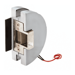 Fail Safe Lever Lock Glass Keepers with Electric Strike - Satin Anodized