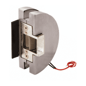 Fail Secure Lever Lock Glass Keepers with Electric Strike - Brushed Stainless Steel