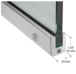 """CRL SP35BS12CL Brushed Stainless 1-3/8"""" Left Hand from Outside Tall Slender Profile Door Rail With Lock Custom Length"""
