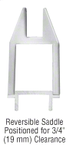 """CRL SL150PSC Polished Stainless 3-5/16"""" Tall Tapered CR150 Series Wet Glazed Sidelite Rail With Saddle - Custom Length"""