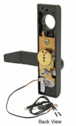 "Jackson 8500EL022313 Electric Outside Lever Trim for 2"" Thick Doors with Flat Style Lever Dark Bronze Finish 24 Volt DC"