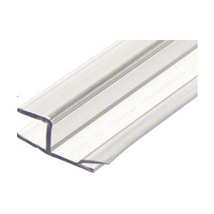 "CRL P1801P Polycarbonate One Piece Strike and Door H-Jamb with Vinyl Insert 180 Degree for 3/8"" Glass"