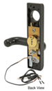 """Jackson 8500EL012313 Electric Outside Lever Trim for 2"""" Thick Doors with Round Style Lever Dark Bronze Finish 24 Volt DC"""