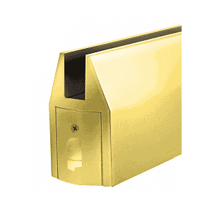 Polished Brass CR150 Series Tapered Door Rail Custom Length Without Lock