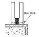 CRL BSWBC Custom Steel Weld Blocks for Base Shoe
