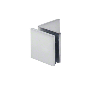 Satin Chrome Fixed Panel Square Clamp With Large Leg