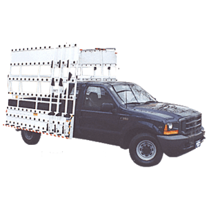 "CRL BR710EH White 120"" x 86"" Steel Glass Rack for Club Cab Pickup Trucks"