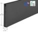 """CRL SR10SBL3812CL Black Powder Coat 10"""" Custom Length Square Sidelite Rail for 3/8"""" or 1/2"""" Glass"""