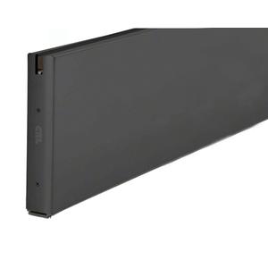 """Black Powder Coat 10"""" Custom Length Square Sidelite Rail for 3/8"""" or 1/2"""" Glass"""