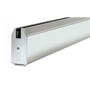 """CRL SR4TPS3812CL Polished Stainless 4"""" Custom Length Tapered Sidelite Rail for 3/8"""" and 1/2"""" Glass"""
