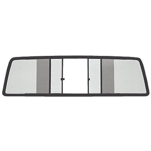 CRL TSW875LT Duo-Vent Four Panel Slider with Light Gray Glass for 1982-1993 GMC/Chevy S-Series Truck