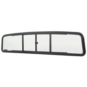 CRL TSW1827 Duo-Vent Four Panel Slider with Clear Glass for 1957-1960 Ford