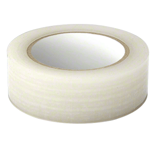 """Marcy ME0071 Clear 1-1/2"""" Vinyl Molding Retention Tape - Without Warning"""