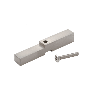 CRL HAB01BN Brushed Nickel Adapter Block for Prima, Shell and Rondo Hinges