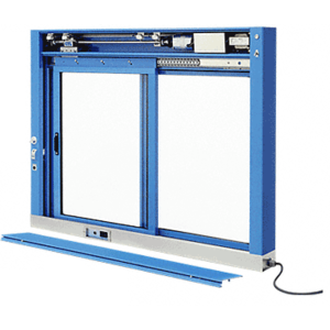 CRL EDW1803P Powder Painted (Specify) Custom Size All Electric Fully Automatic Deluxe Sliding Service Window XO or OX With Stainless Steel Sill