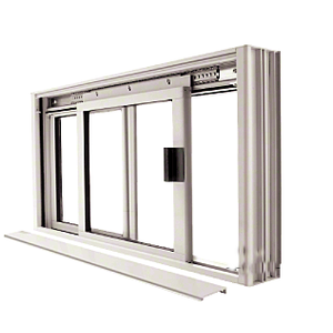 Satin Anodized DW Series Manual Deluxe Sliding Service Window OX or XO without Screen