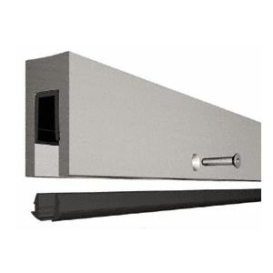 "CRL B5BBSC Custom Aluminum Smoke Baffle Base Shoe with Brushed Stainless Cladding for 1/2"" Glass"