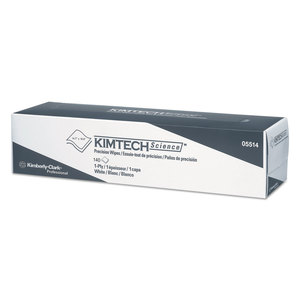 "Kimberly-Clark KCC05514CT Precision Wiper, POP-UP Box, 1-Ply, 14 7/10"" x 16 3/5"" White, 140/Box"