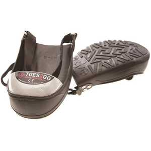 National Brand Alternative T2GUS Men's 2-7 Women's 4-9 Black/White Toes2Go Steel Toe Cap Overshoes